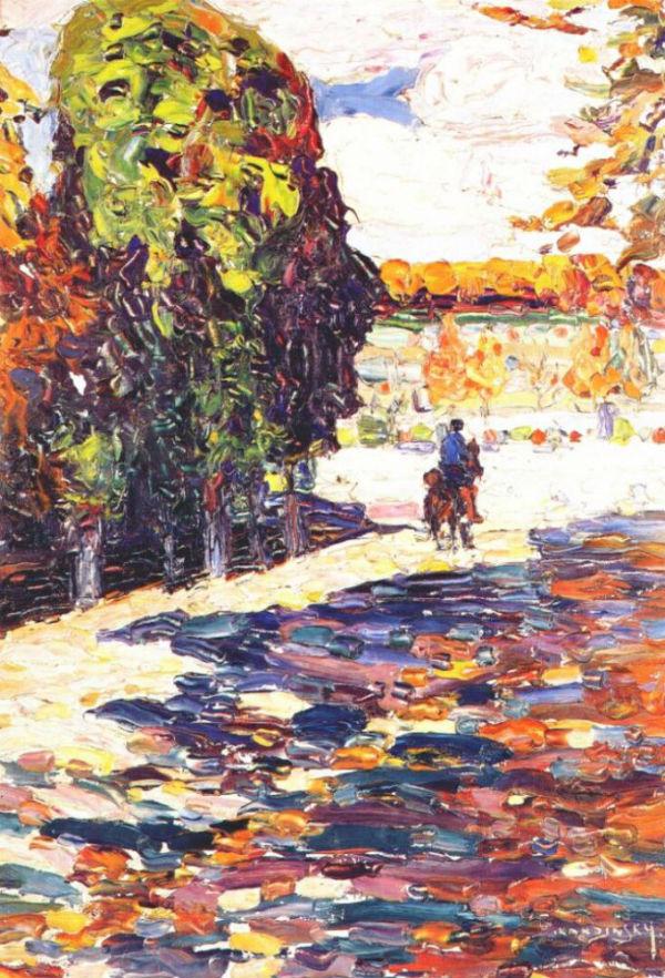 16-Василий Кандинский - Всадник в парке Сен-Клу - 1906.jpg