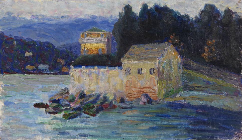 17-Габриэль Мюнтер - Пейзаж в Рапалло - 1906.jpg