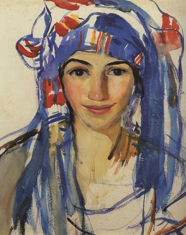 1-Автопортрет в шарфе - 1911.jpg