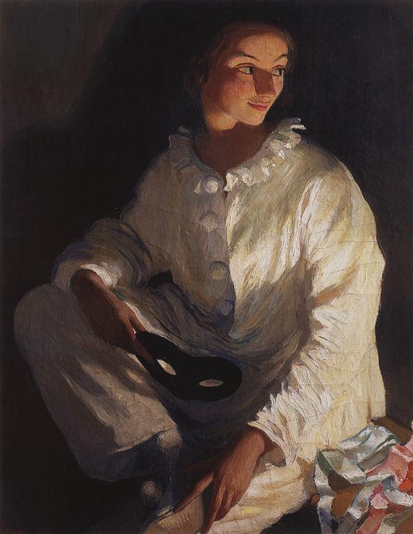 2-Автопортрет в костюме Пьеро - 1911.jpg