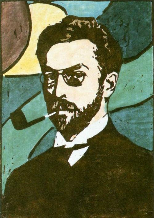 23-Габриэль Мюнтер - Портрет Василия Кандинского - 1906.jpg