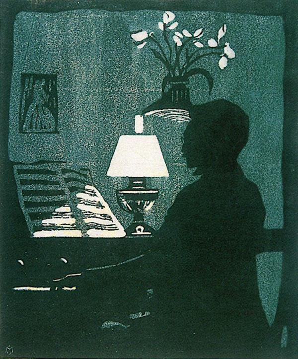 24-Габриэль Мюнтер - Кандинский играет на фисгармонии - 1907.jpg