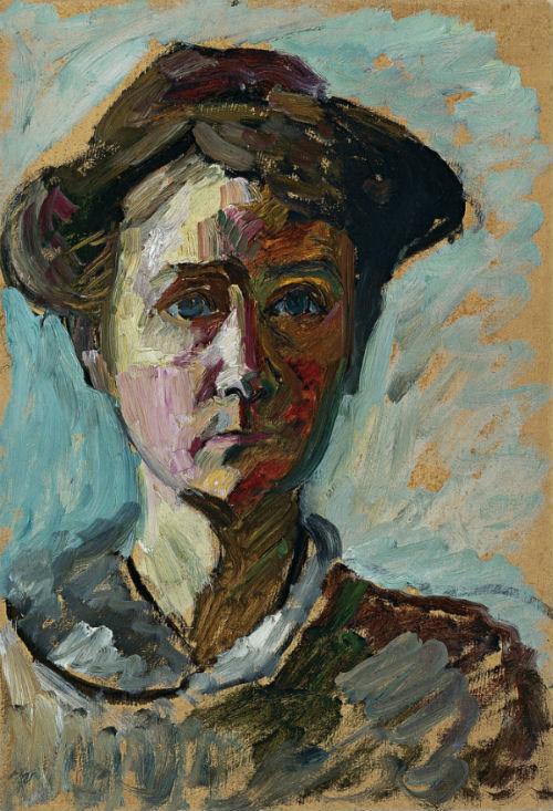 25-Габриэль Мюнтер - Автопортрет - 1908.jpg