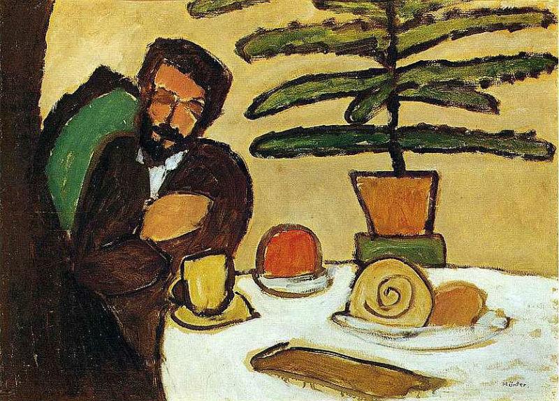 40-Габриэль Минтер - Человек за столом (Кандинский) - 1911.jpg