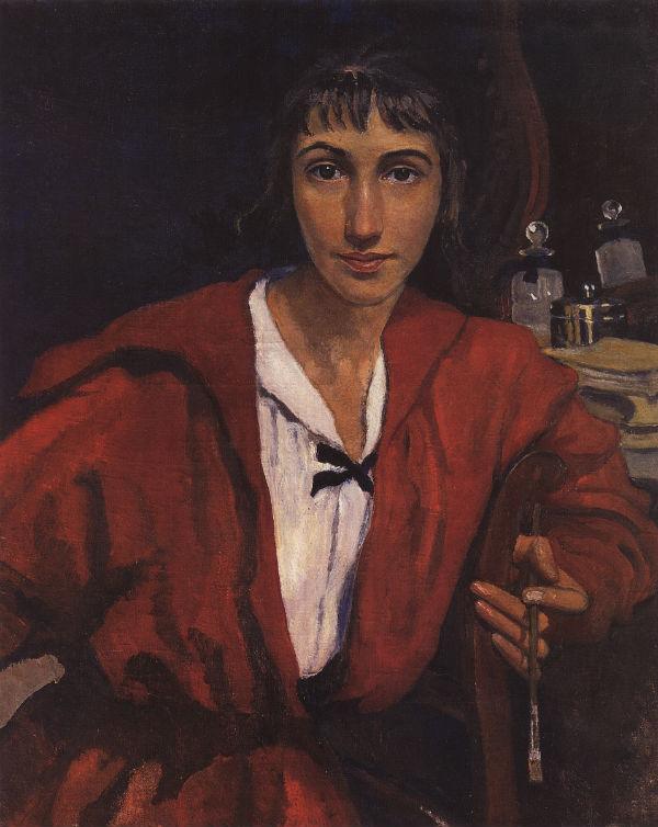 4-Автопортрет в красном - 1921.jpg
