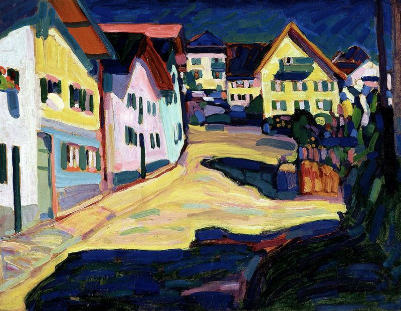 44-Василий Кандинский - Улица Бурграбенштрассе в Мурнау - 1908.jpg