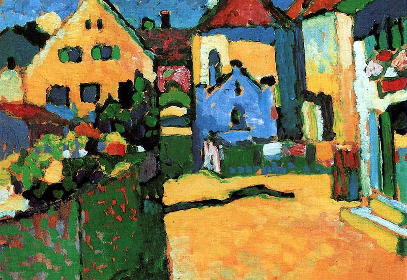 47-Василий Кандинский - зелёная улица в Мурнау - 1909.jpg