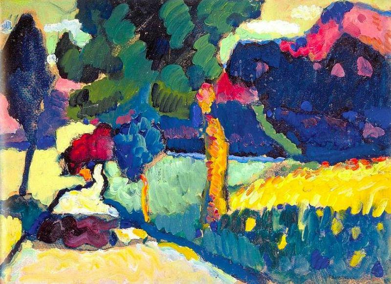 48-Василий Кандинский - мурнау Летний пейзаж - 1909.jpg