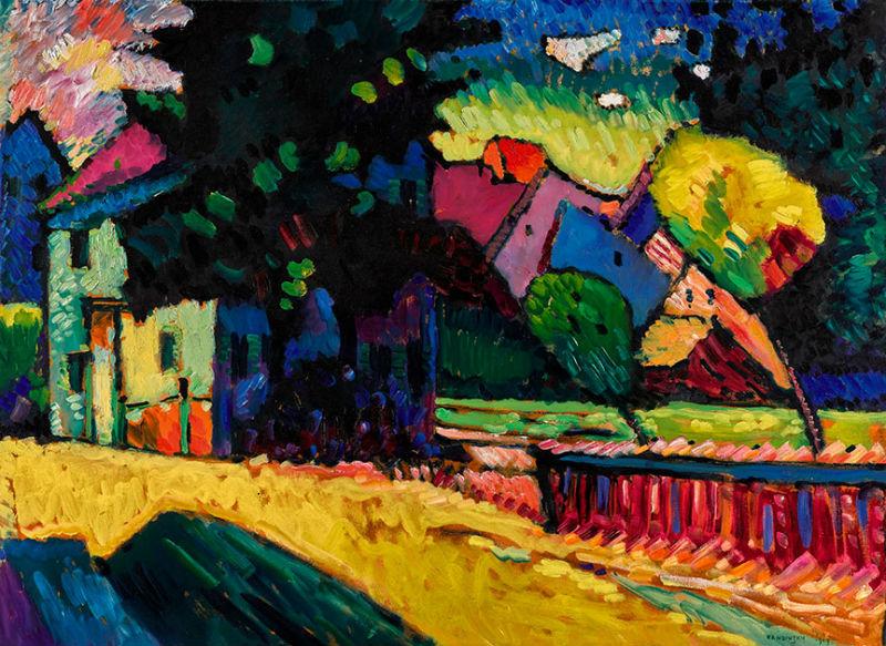 49-Василий Кандинский - Пейзаж с зелёным домом - 1909.jpg