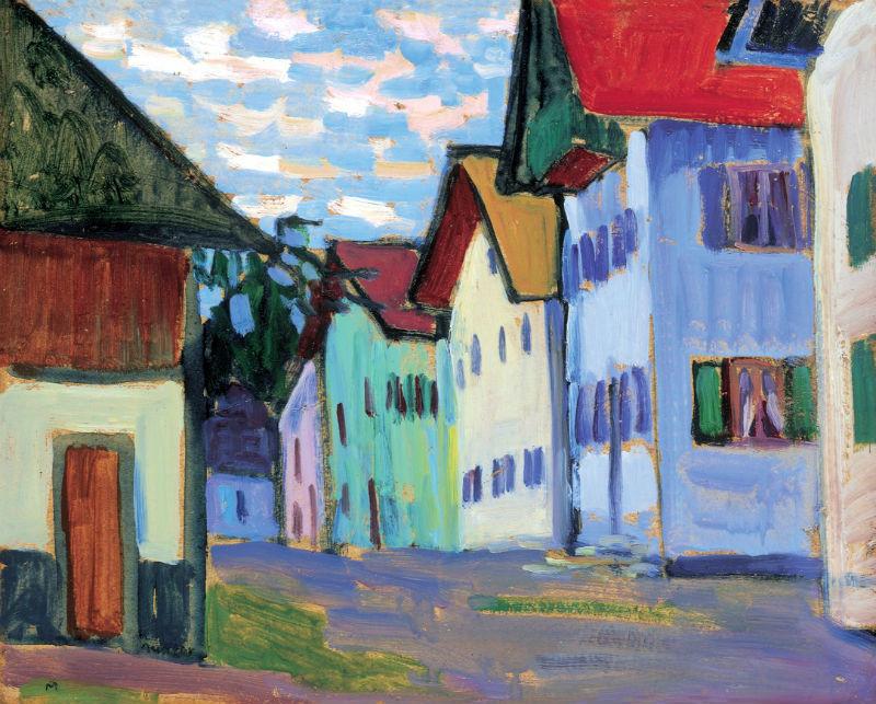 51-Габриэль Мюнтер - Улица в Мурнау - 1908.jpg