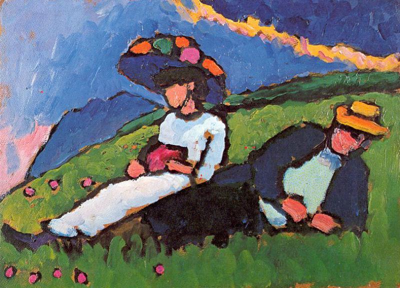 52-Габриэль Мюнтер - Марианна Верёвкина и Алексей Явленский - 1909.jpg