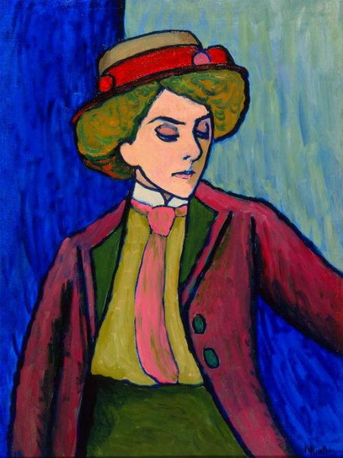 53-Габриэль Мюнтер - Портрет молодой женщины - 1909.jpg