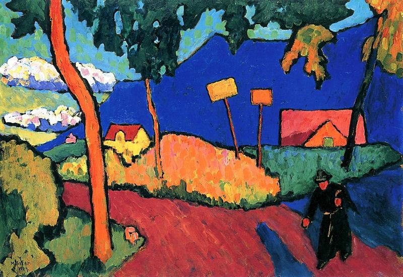 54-Габриэль Мюнтер - Вечер - 1909.jpg
