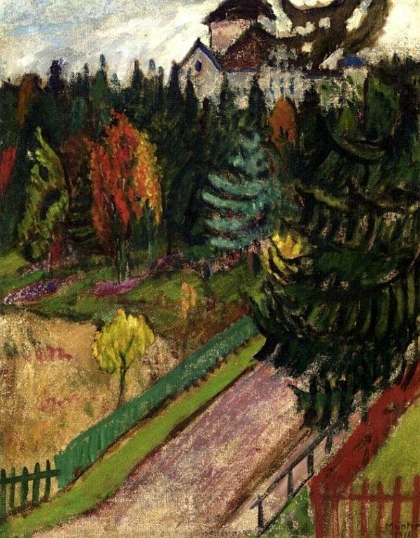 64-Габриэль Мюнтер - стокгольмский пейзаж - 1916.jpg