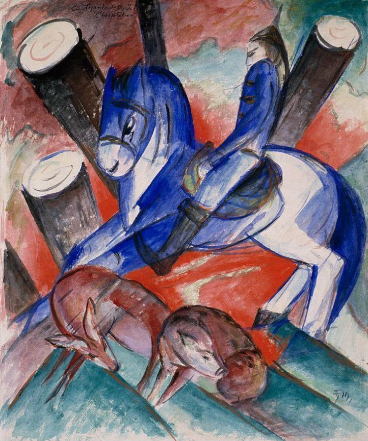 1-Франц Марк - Святой Жюльен - 1913 - Музей Соломона Гуггенхайма в Нью-Йорке.jpg