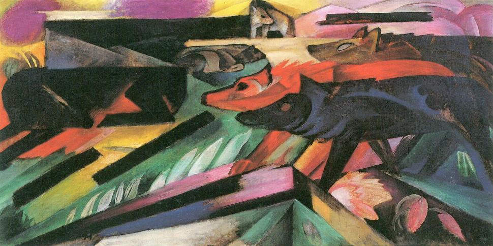 8-Франц Марк - Волки (Балканская война) - 1913.jpg