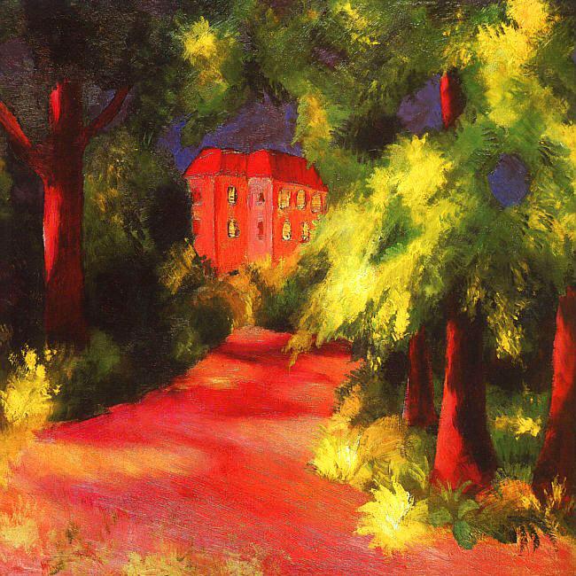 17-Август Маке - Красный дом в парке.jpg