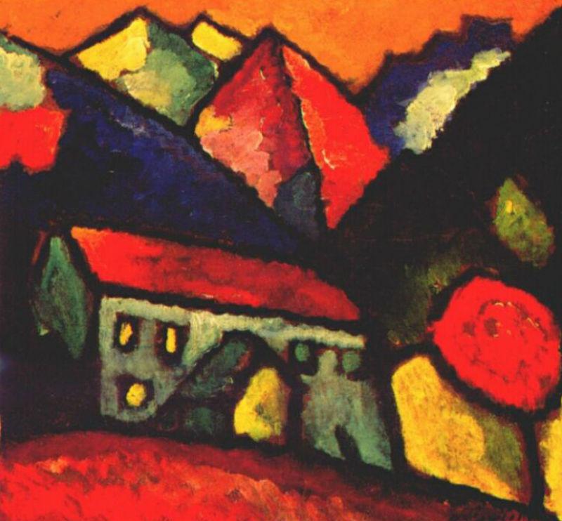 21-Алексей Георгиевич Явленский - Дом на горе - 1912.jpg