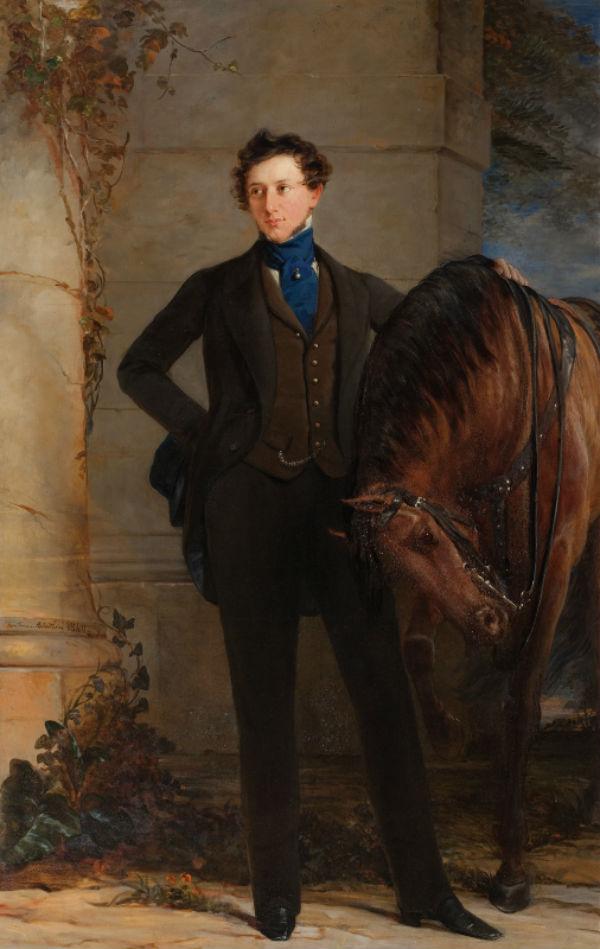 9-Кристина Робертсон - Портрет графа В П Давыдова - 1840.jpg