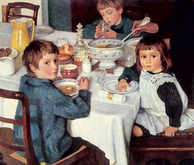 1-За завтраком - 1914 - ГТГ.jpg