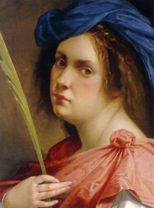 Артемизия Джентилески - Автопортрет в образе мученицы  - около 1615.jpg