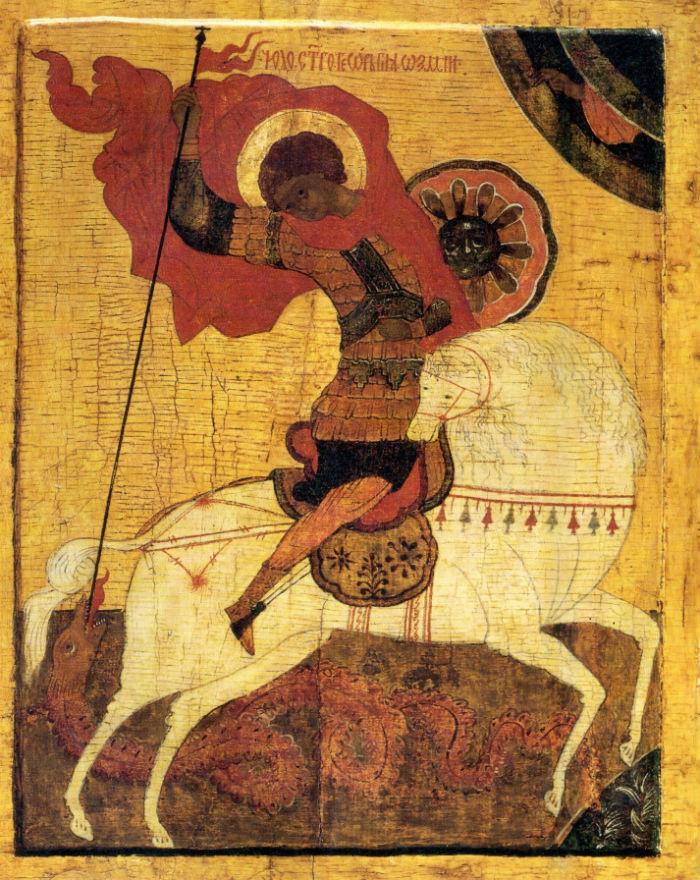 1-Чудо Георгия о змие - Новгород - конец XV-начало XVI века.jpg