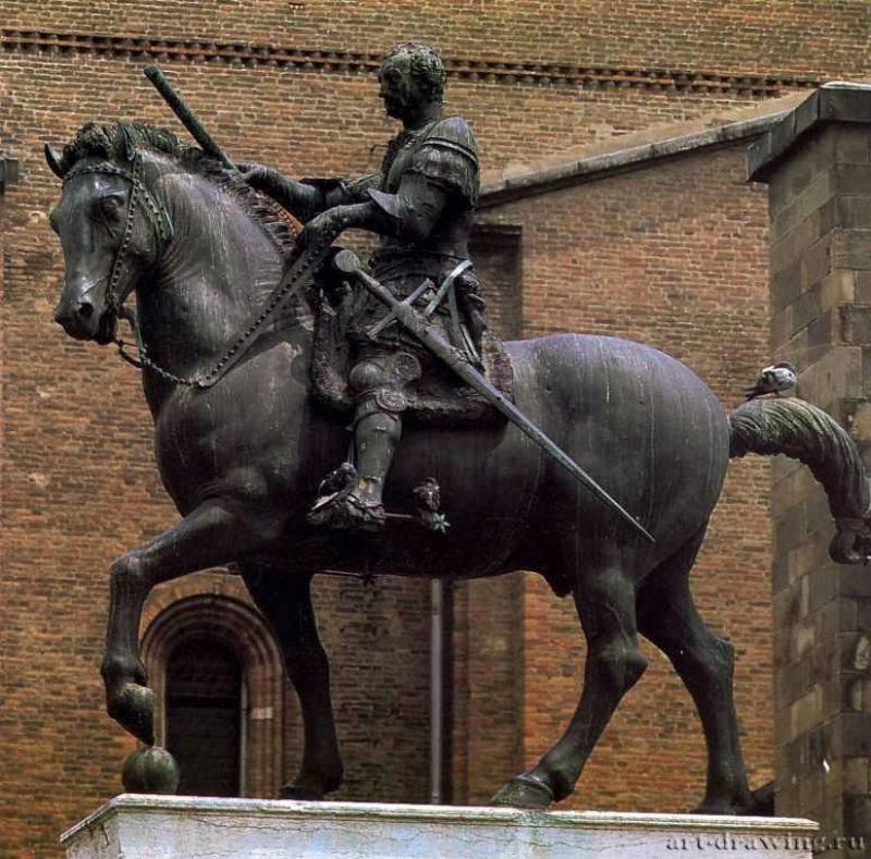 5-Донателло - Памятник кондотьеру Эразмо ди Нарни (1447-I453) известному под именем Гаттамелата.jpg