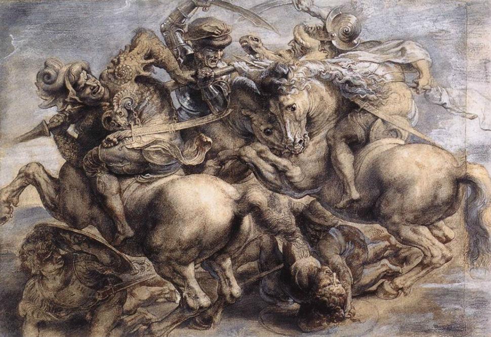 6-Леонардо да Винчи - Битва при Ангиари - копия работы Рубенса.jpg