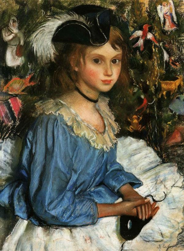 9-Катя в голубом у ёлки - 1922.jpg