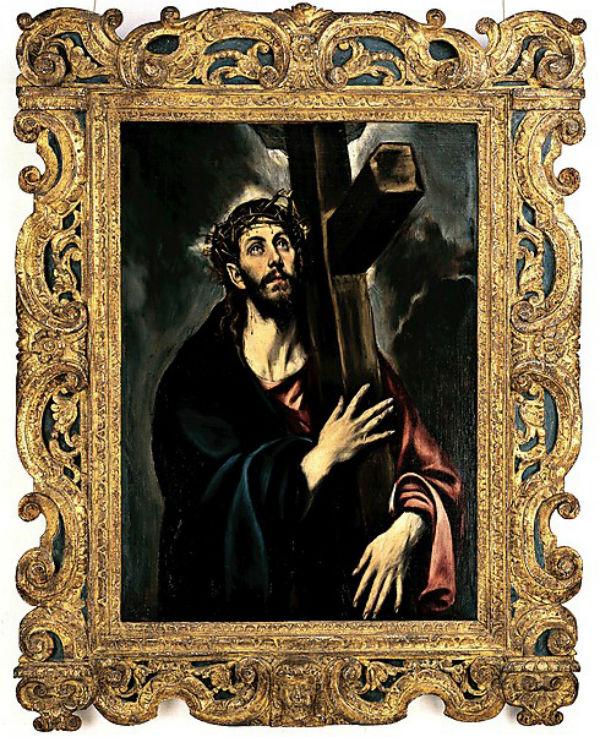 4-Эль Греко -  Христос несущий крест - в раме Сансовино.jpg