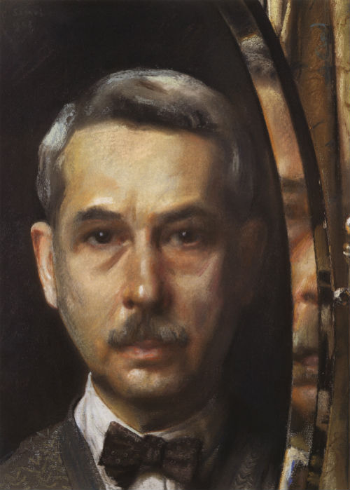 Константин Андреевич Сомов - автопортрет в зеркале - 1928.jpg