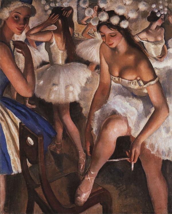 2-Балетная уборная - Снежинки - балет Щелкунчик - 1923.jpg