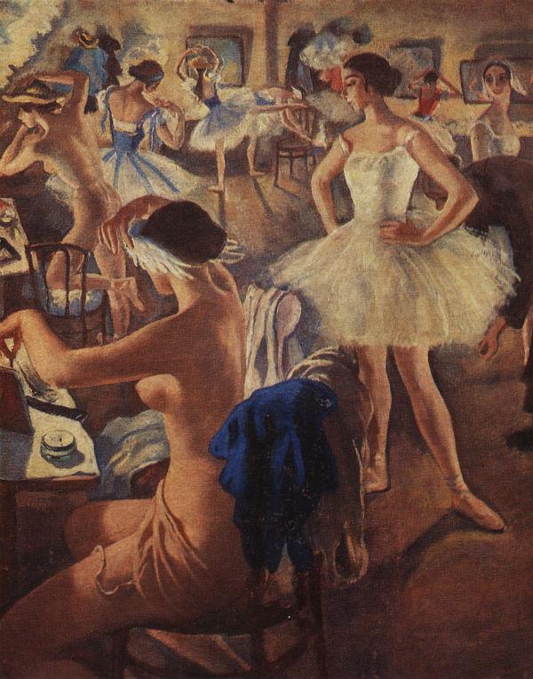 4-В балетной уборной - Лебединое озеро - 1924.jpg