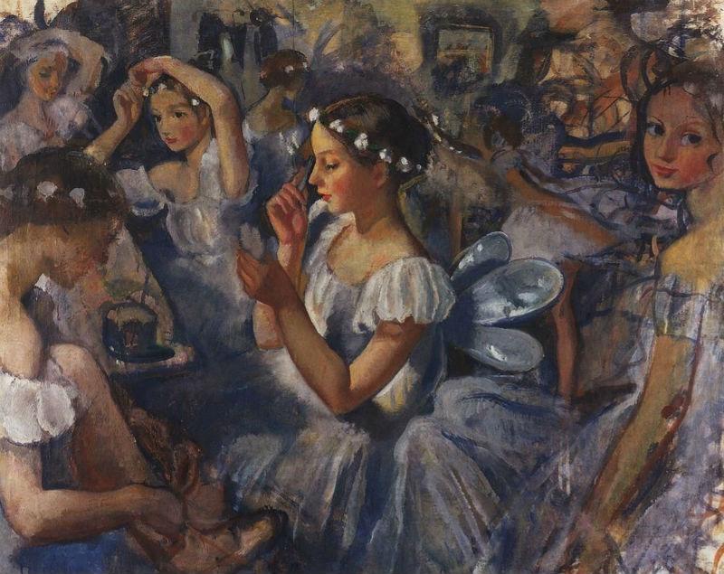 5-Девочки-сильфиды - балет Шопениана - 1924.jpg