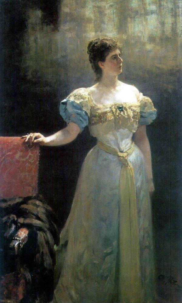 Илья Ефимович Репин - Портрет княгини М. К. Тенишевой - 1896.jpg