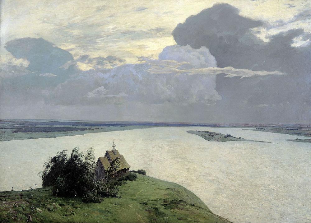 Исаак Левитан - Над вечным покоем - 1894.jpg