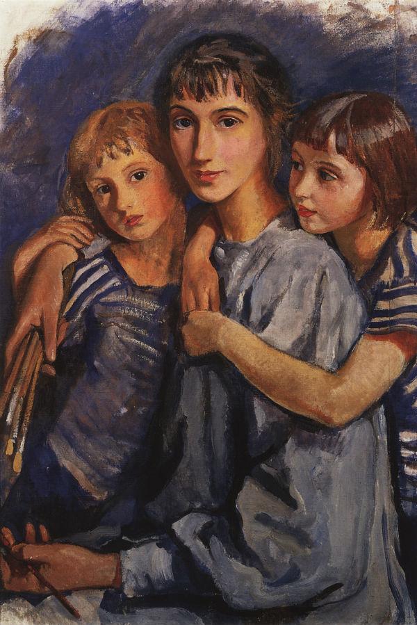 7-Автопортрет с дочерьми.jpg