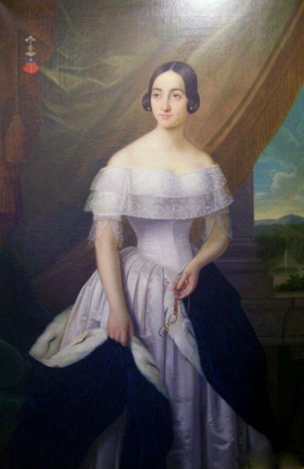 Екатерина Дантес де Геккерн на портрете Н. Вельца (1840).jpg