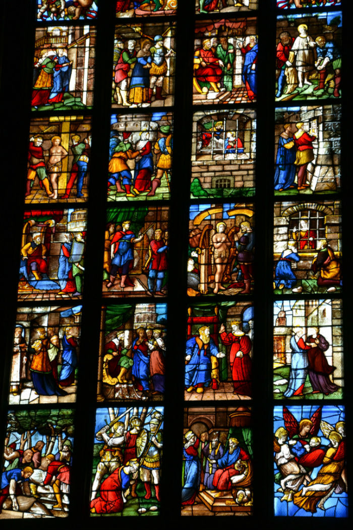 Сцены из жития святой Екатерины - Миланский собор.jpg