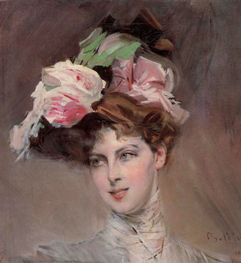 Джованни Болдини - Портрет дамы в шляпке.jpg