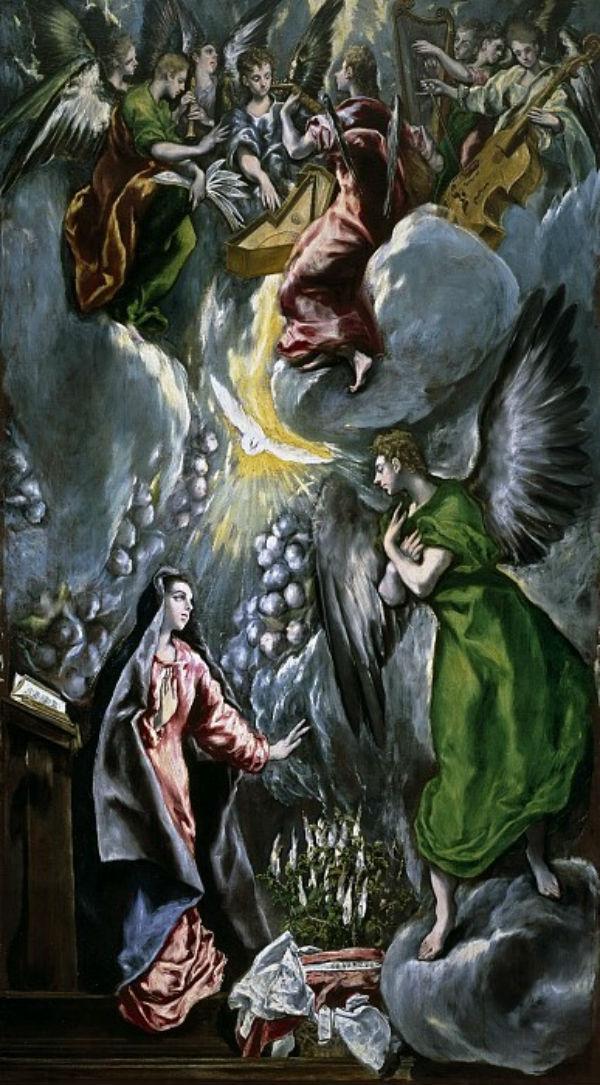 14-Эль Греко (Доменико Теотокопули) - Благовещение - 1600-е.jpg