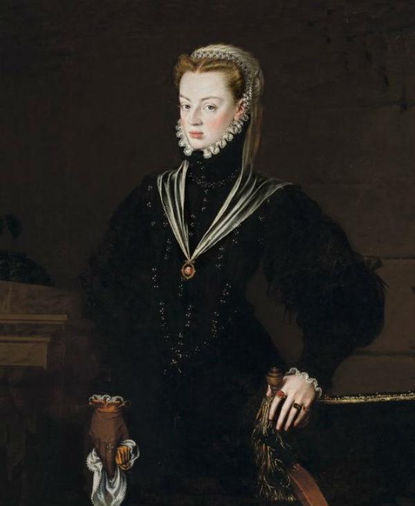17-Алонсо Санчес Коэльо - Портрет  Хуаны Австрийской принцессы Португалии - 1557.jpg