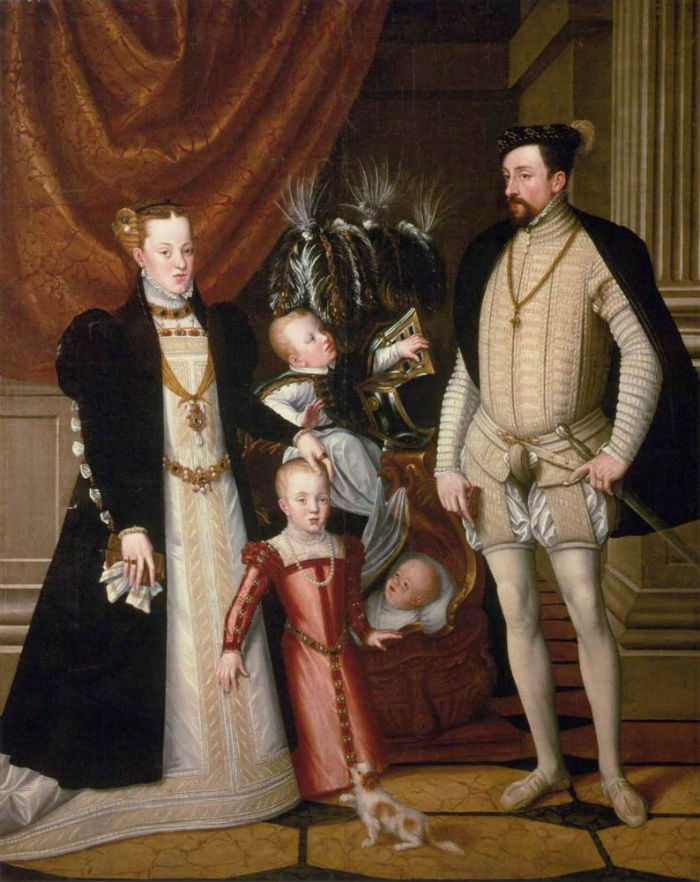 Портрет императора Максимилиана ІІ с семьей.jpg