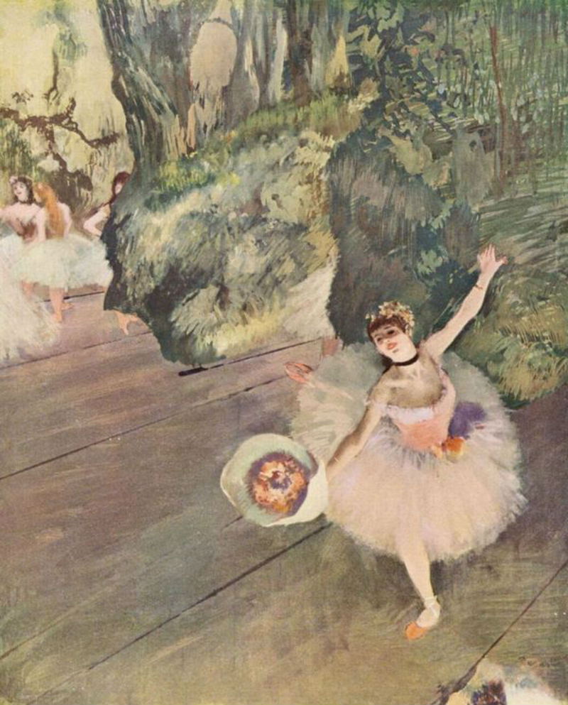 Эдгар Дега - Балерина с букетом в поклоне - 2.jpg