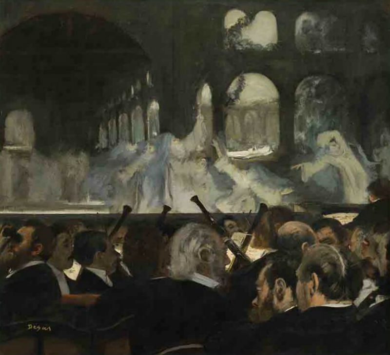Эдгар Дега - Балетная сцена из оперы Мейербера Роберт-дьявол - 1872.jpg