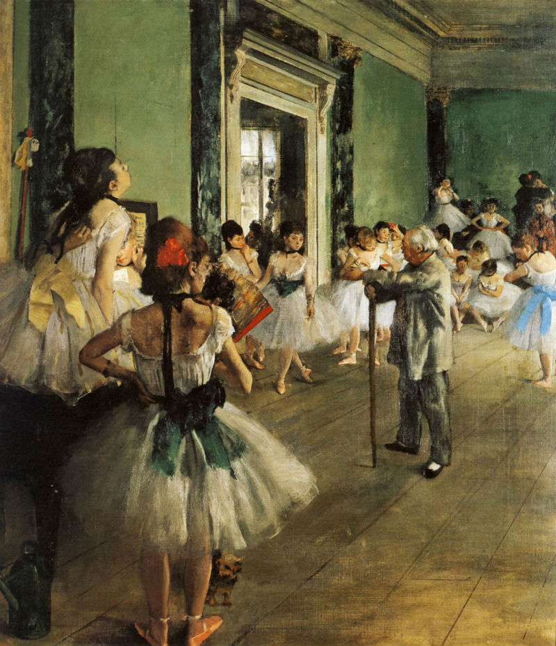 Эдгар Дега - Танцевальный класс - 1871-1875.jpg
