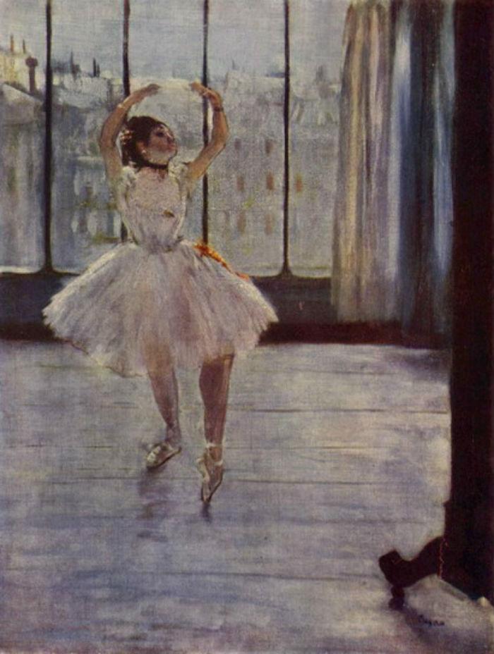 Эдгар Дега - Танцовщица позирующая для фотографа.jpg
