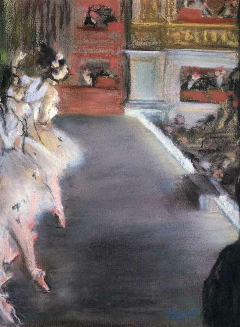 Эдгар Дега - Танцовщицы в старом здании  Оперы.jpg