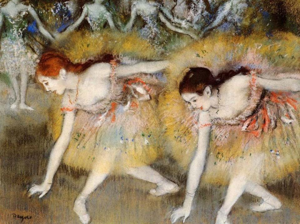 Эдгар Дега - Танцовщицы на поклонах - 1885.jpg