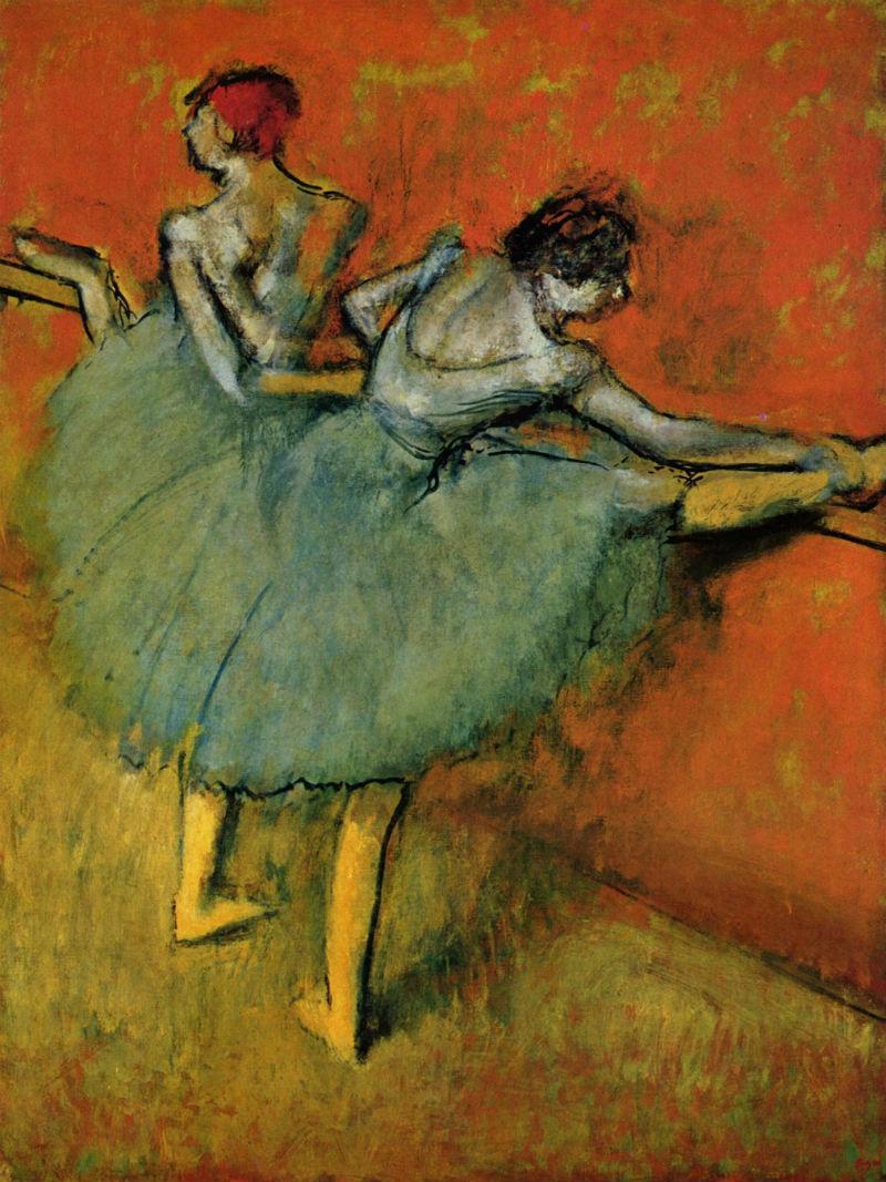 Эдгар Дега - Танцовщицы у станка - 1905 -  Philips Collection Washington DC USA.jpg